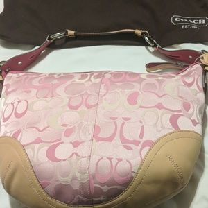 Coach Signature Collection pink bag